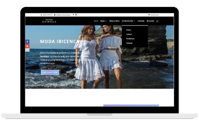 Diseño web tienda online de moda y complementos