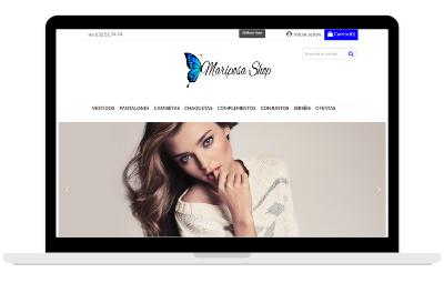 Diseño de tienda online de mosa y complementos