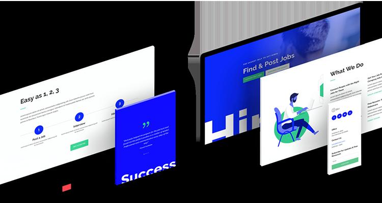 Ordenadores y pantallas de móviles mostrando Diseño Web Profesional